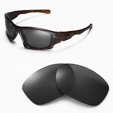 New Walleva Polarized Black Replacment Lenses For Oakley Ten Sunglasses