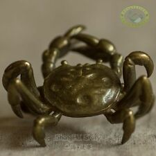 Japanese Stytle Copper Crab Tea Pet for Incense and Teapot lid on tea table