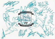 PRESTON F.C SIGNED 12x8 (A4) EMBLEM PHOTOx21+COA *GRAYSON*DAVIES*GARNER*WRIGHT*