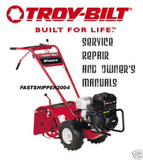 TROY-BILT HORSE TILLER SHOP SERVICE REPAIR MANUALS TRANSMISSION PARTS CATALOG CD