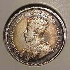 1919 Canada 25 Cents Sterling Silver Coin , VF/XF