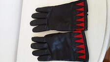 Black leather gloves - size 8 - gently worn