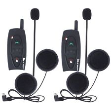 2x 500M Bluetooth Moto Casco Interfono Intercom Cuffie Auricolari Skiing