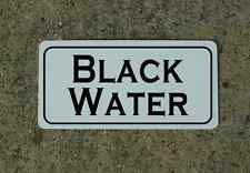 "BLACK WATER Metal Sign 6""x12"" Food Beverage Retro Vintage RV Trailer Concession"
