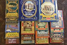 Blocco di 15 Leporelli Napoli Roma Pompei Genova Milano Trieste anni 30-50