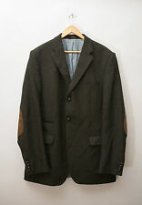 Barbour Men's Tweed Jacket Coat Blazer Size 44 XL