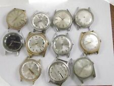 Lot of 11 Vintage WALTHAM 17 Jewel Mechanical Men's Wrist Watch parts repair