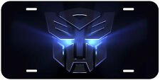 Transformers Blue Aluminum Novelty Car Auto License Plate