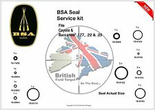 BSA Coyote & Buccaneer Full Service Seal Kit 0.177, 0.22 & 0.25