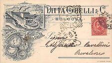8968) BOLOGNA DITTA GHELLI STABILIMENTO A VAPORE GESSI E CALCE VIAGG. NEL 1894