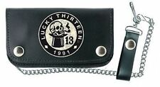 Lucky 13 Smoker 13 Top Hat Patch Skull Punk Motorcycle Tattoo Chain Wallet
