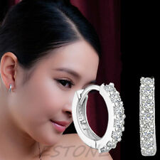 Silver Plated XS Tiny Huggie Hoop Cubic Zirconia 9mm Baby Girls Earrings Hot