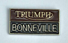 Metal Enamel Pin Badge Brooch Triumph Bonneville Wording Motorbike Biker Rider