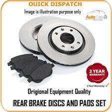 Disques de frein arrière 8887 et tampons pour MERCEDES C270 CDI 4/2001 -7 / 2005