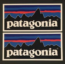 Patagonia Retro Flat Sticker Decal Fishing Hiking Camping X 2
