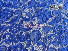 G3 blu elettrico pizzo Guipure sposa 120cm larghezza - venduto by 0.5m