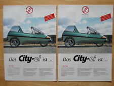 2-4-1 Deal city-el Electric Microcar Trike Raro Folleto 1997-Ciudad COM Alemania