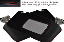 RED STITCHING FITS SUBARU LEGACY 2003-2009 2X SUN VISORS LEATHER COVERS ONLY