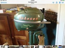 Vintage Johnson 1954 3HP Outboard Motor Model JW-10