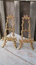 MATCHING VINTAGE DISTRESSED FINISH DISPLAY EASELS HOME & GARDEN FRAME STAND RACK