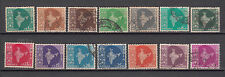 India 3rd Definitive Series Map 14 vls  Used Stamps Set