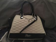 "Guess Black/off White Shoulder/arm Bag ""rumor Has It"""