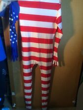 Morphsuit Flag USA Halloween Costume, American Flag  Size Medium M