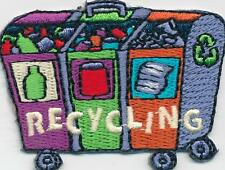 Boy Girl Cub RECYCLING BINS Recycle Fun Patches Crests Badges GUIDE/ SCOUT