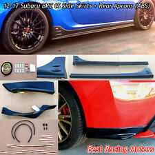 12-17 BRZ STi tS Style Side Skirts + Rear Aprons (ABS)