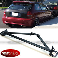 Fit Civic Integra Stainless 3 Point Black Front Upper Strut Tower Brace Bar