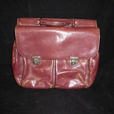 El Portal Soft Leather Messenger Briefcase Distressed Bag FREE SHIPPING