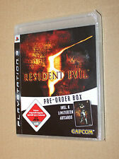 Resident Evil 5 extremely Rare PreOrder Box includes 6 Artcards Post Cards