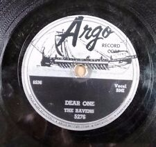 DOO-WOP 78 THE RAVENS on ARGO 5276 That'll Be The Day - Chicago Label - V+E-