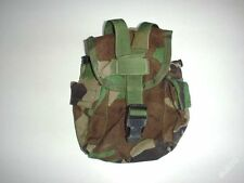 US army original issue 1QT molle WOODLAND canteen cover used nice condition