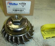 Weiler Wire Cup Brush Twisted 13158 Stainless M10 1.50 metric Thread SS