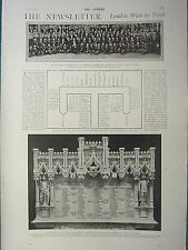 1900 VICTORIAN PRINT ~ LONDON BY WEEK CONFERENCE AT DUBLIN SAVOY QUESTS BUFFS