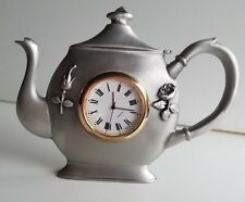 WHOLESALE...Tea Pot Pewter Clock (Lot of 5)