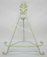 31cm Rustic French Provincial Cream Iron Easel Stand Finial, Book, Photo, Plate