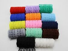 14 Meter Bilateral Embroidered Lace Trim Ribbon 14 Color Wedding Bows Craft