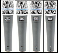 (4) New Shure BETA 57A Instrument Vocal Mic Auth Dealer Make Offer Buy It Now!