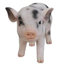 Standing Baby PIG with Black Spots - Life Like Figurine Statue Home / Garden NEW