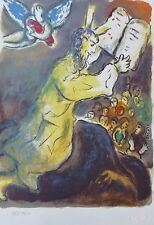 MARC CHAGALL EXODUS  blessing moses SIGNED HAND NUMBERED 923/1800 LITHOGRAPH