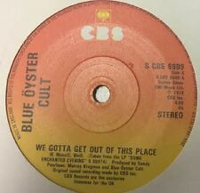 "BLUE OYSTER CULT We Gotta Get Out Of This Place 1978 UK 7"" Vinyl Single"