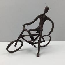NUOVO RUSTICO METALLO CICLISTA statua regalo soprammobile arredamento ciclismo