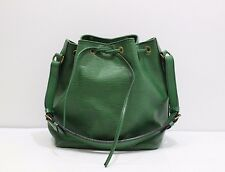 Authentic Louis Vuitton Petit Noe Epi Green Shoulder Bag Leather M44104