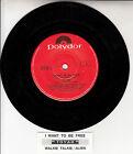 "TOYAH I Want To Be Free 7"" 45 rpm vinyl record + juke box title strip"
