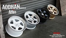 DIRECTIONAL 17X9 +35 AODHAN AH01 5X114.3 GOLD WHEEL FIT XB CIVIC SI ACCORD 240SX