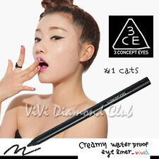 Korean STYLENANDA 3CE 3 CONCEPT EYES Creamy Waterproof Eyeliner #1 CATS