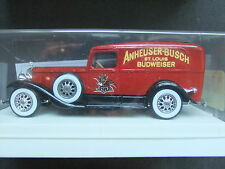 Solido Age d'Or 1931 Cadillac V16 Van 1/43 Scale - Anheuser-Busch Budweiser