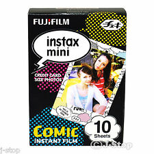 10 Fujifilm Instax Mini 8 Comic Instant Films for Mini 7s 25 90 /Lomo Diana Back